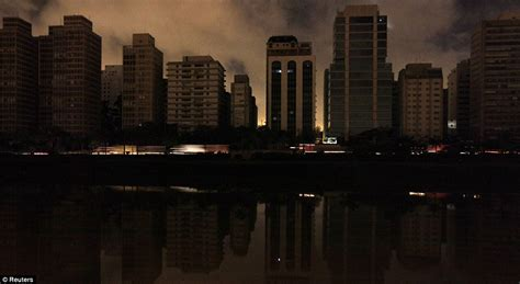 eerie evening  brazil  power outage plunges future