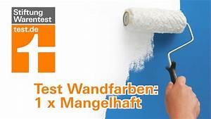 Wandfarben Test 2017 : test wandfarben besser konservierungsmittelfrei youtube ~ A.2002-acura-tl-radio.info Haus und Dekorationen