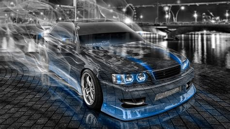 toyota chaser jzx jdm tuning city smoke drift car