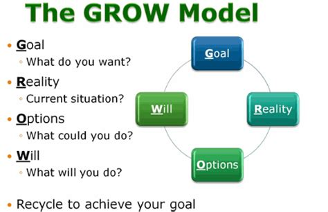 John Whitmore GROW Model - A Coaching & Mentoring Process