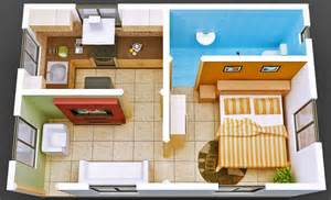 Decorative House Designs Plans Small House by Small House Builders Bangalore Isometric Home 3d View
