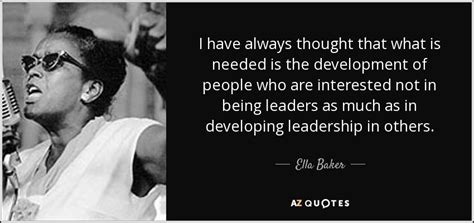 ella baker quote    thought