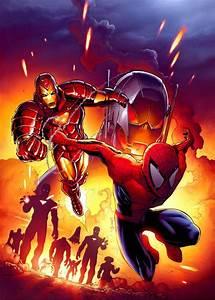 Spider-Man & Iron Man vs. Ultron - Andie Tong | Comic Art ...