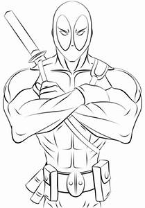 Deadpool Coloring Page Free Printable Coloring Pages