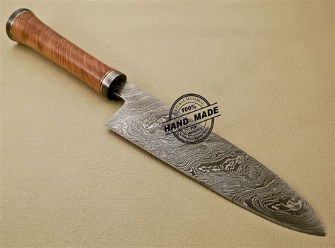 Damascus Chef Knife Custom Handmade Damascus Steel Kitchen