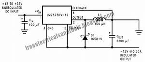 inverting buck boost circuit using lm2575 diagram schematic With buck boost circuit