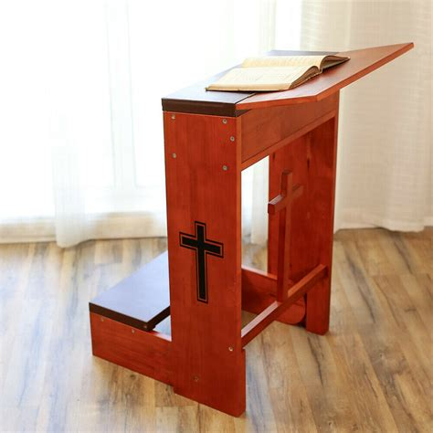 Prayer Kneeling Bench by Church Prayer Kneeler Bench Stool Tabletop Padded Folding
