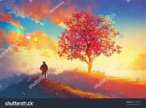 Art De Vie : autumn landscape alone tree on mountaincoming stock ~ Zukunftsfamilie.com Idées de Décoration
