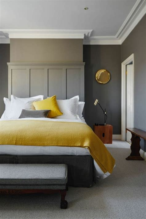 grey color bedroom 1001 ideas for colors that go with gray walls 11751 | yellow white and gray color palette inside a minimalistic bedroom colors that go with gray walls white door and ceiling