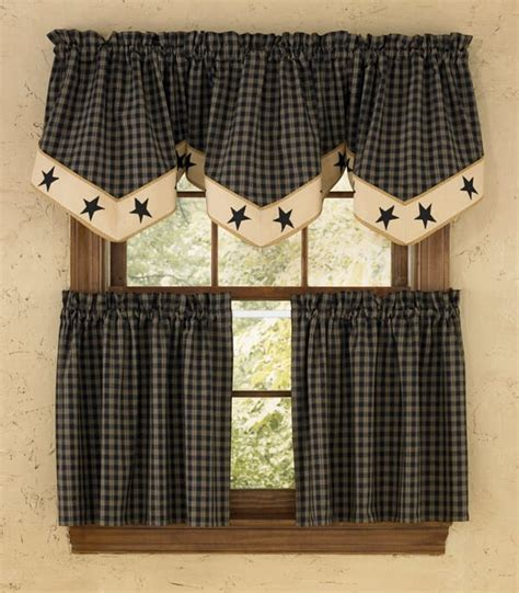 country style kitchen curtains sturbridge lined single point curtain valance 6208