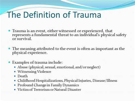 understanding trauma and the body ppt download
