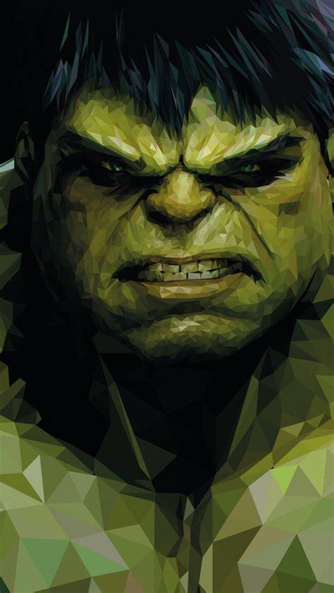 wallpaper hulk  poly marvel comics superhero hd