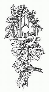 Coloring Bird Pages Birdhouse Guarding Couple Adult Decorative Patterns Printable Colouring Coloringhome Flower Wood Using Pyrography Glass Sheets Garden Place sketch template