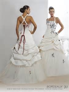 morel mariage robe de mariage gris et blanc