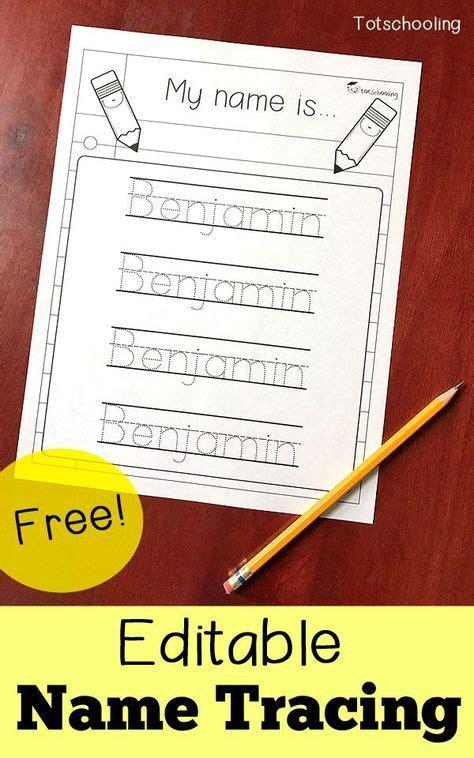 editable  tracing printable homeschool