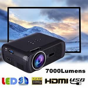 Mini 1080p Full Hd Led Projector Home Theater Cinema 3d