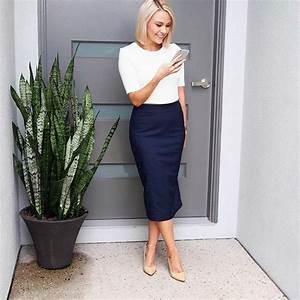Pin by Lena on Work Style | Pinterest | Office style Long sides and Pencil skirts