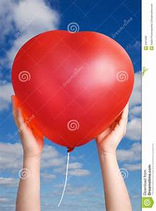 Red Balloon In Child Hands Royalty Free Stock Photos