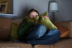 Person Watching Horror Movie