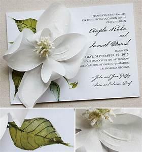 Angela g white magnolia wedding invitationsmomental designs for Magnolia tree wedding invitations