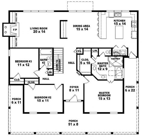3 bedroom country house plans 654173 one 3 bedroom 2 bath country style house