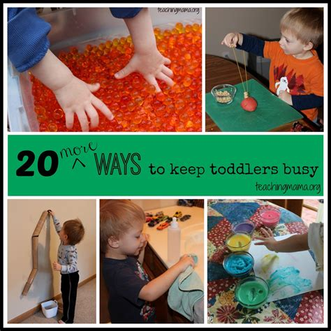 20 toddler activities 876 | 20 More Ways to Keept Toddlers Busy