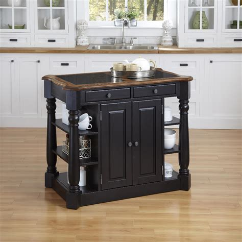 black kitchen island with granite top black wooden kitchen island combined with black granite top with brown wooden frame completed