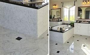 Salle De Bain Marbre Blanc : salle de bain marbre blanc casey martel ~ Nature-et-papiers.com Idées de Décoration