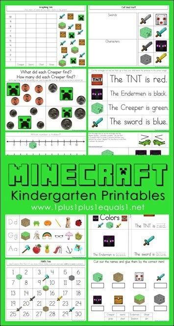 free minecraft kindergarten worksheets free homeschool 646   cap48