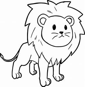 Lion Face Coloring Page - Printable Kids Coloring