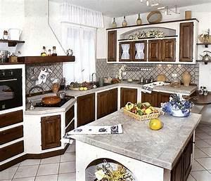 La cucina in muratura cucine tipologie di cucine in for La cucina in muratura