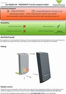 Paxton Access 333110 125 Khz Proximity Reader User Manual