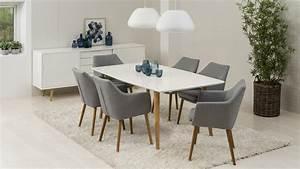 Retro Esstisch Stühle : stuhl nora armlehnstuhl sessel in vintage stoff hell grau eiche ~ Markanthonyermac.com Haus und Dekorationen