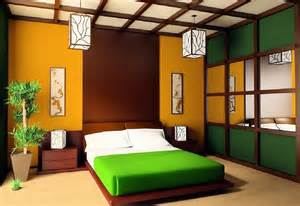 Japanese Themed Living Room by Colorful Japanese Bedroom Style With Big Mirror