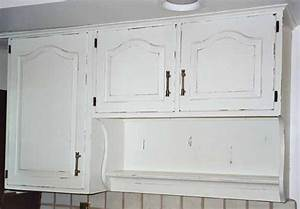 white distressed cabinets home decor Pinterest