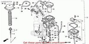 Honda Nx650 Dominator 1995 Northern Europe Carburetor
