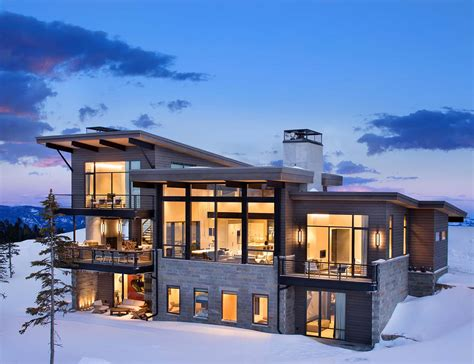 Home Design Architects : Modern Mountain Home Boasts Chic And Stylish Living In Montana