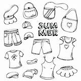Coloring Clothes Summer Pages Winter Drawing Clothing Cloth Preschoolers Printable Illustration Outfits Print Clipart Vector Cartoon Beach Drawings Getdrawings Getcolorings sketch template