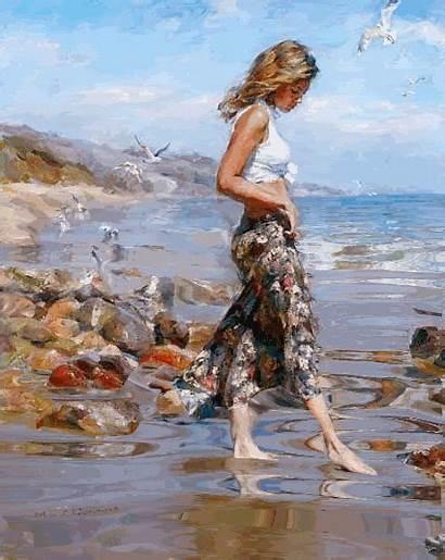 Painting Centerblog Sand Eau Woman Paintings Dans