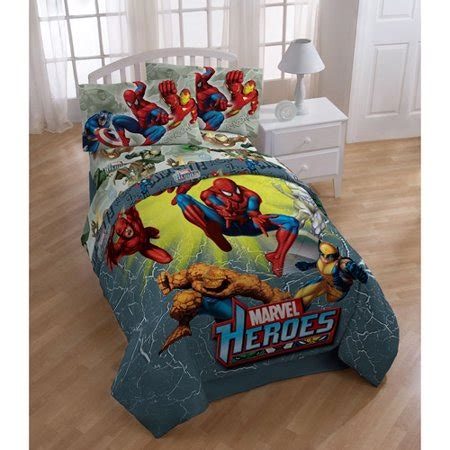 marvel heroes bedding sheet set walmart - Marvel Heroes Comforter Set