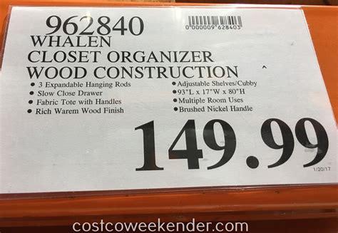whalen closet organizer costco weekender