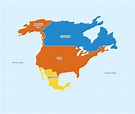 North America Continent - 7 Continents For Kids | Rabbitsabc