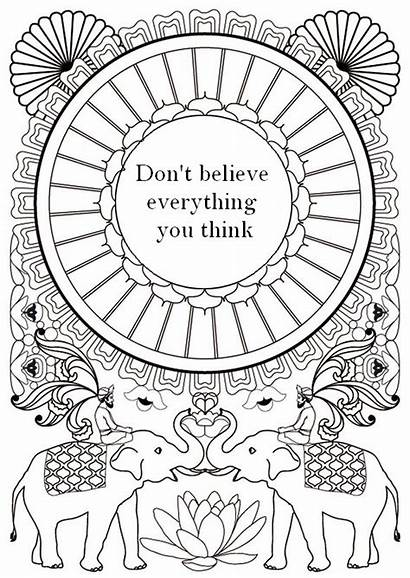 Coloring Teens Pages Quote