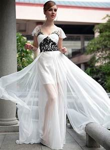Black and white wedding dresses with sleeves | Modern ...