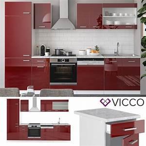 Küche 300 Cm : vicco k che r line 300 cm rot hochglanz ~ A.2002-acura-tl-radio.info Haus und Dekorationen