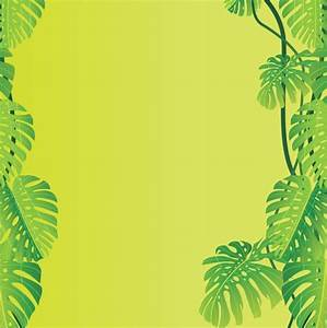 Jungle Leaves Vector Background Vector Art & Graphics ...