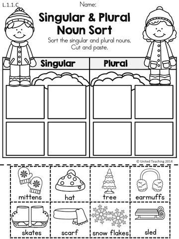 singular  plural noun coloring pages learny kids