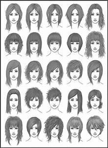 Different Types Of Bangs Chart Drawing Art Hair Girl Female Style Women Draw Boy Man Men