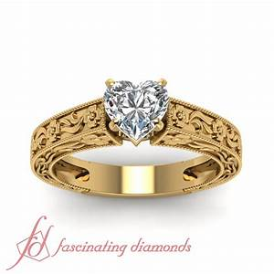 1/2 Carat Heart Shaped Diamond Solitaire Engagement Rings ...