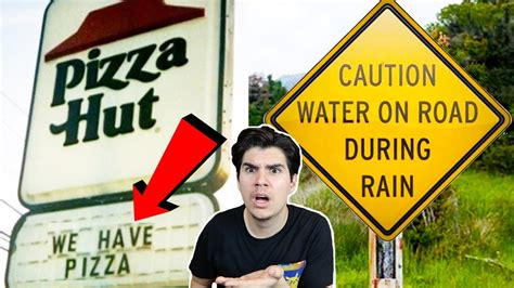 Worlds Most Obvious Signs Ever Made! Youtube